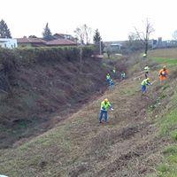 La Protezione civile ripulisce l'alveo del rio Tresemane