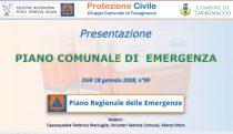 Presentazione Piano Comunale di Emergenza